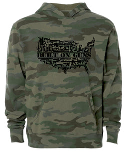 built on guns camo hoodie