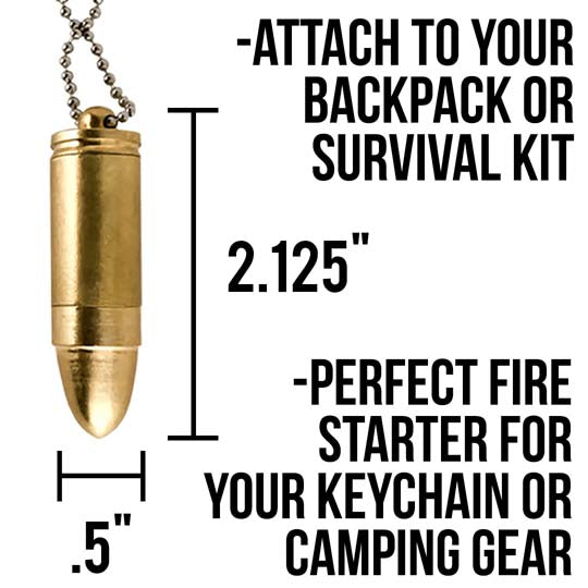 bullet lighter technical specs and sizes for camping gear and survival backpack accessories.