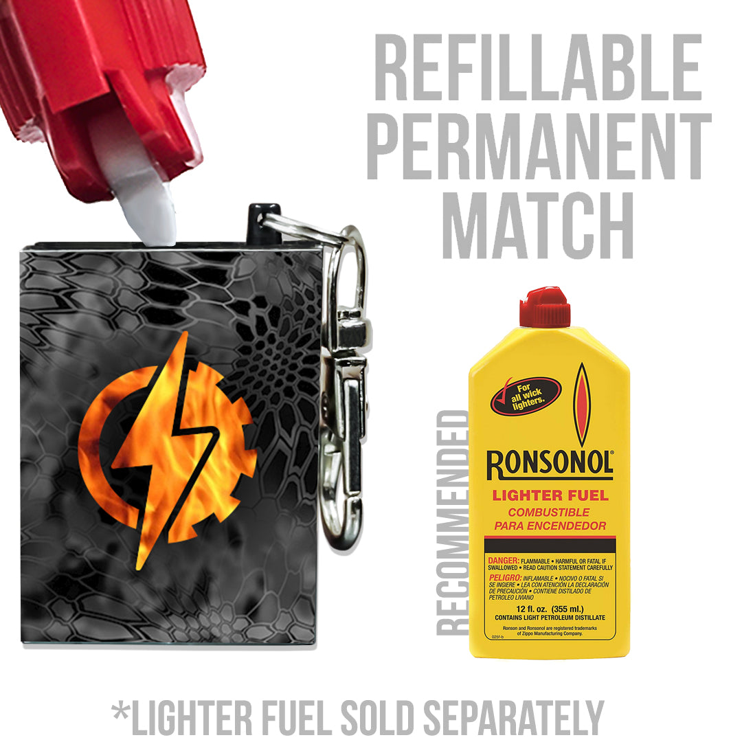 refillable permanent match fire starter