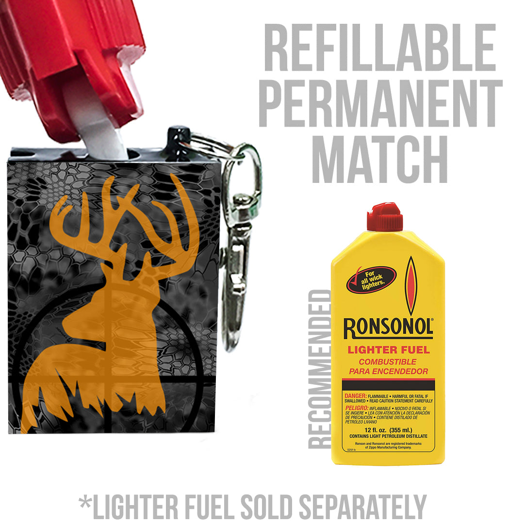 refillable hunting camp fire starter
