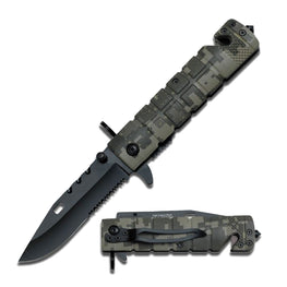 marine camo rescue military knife