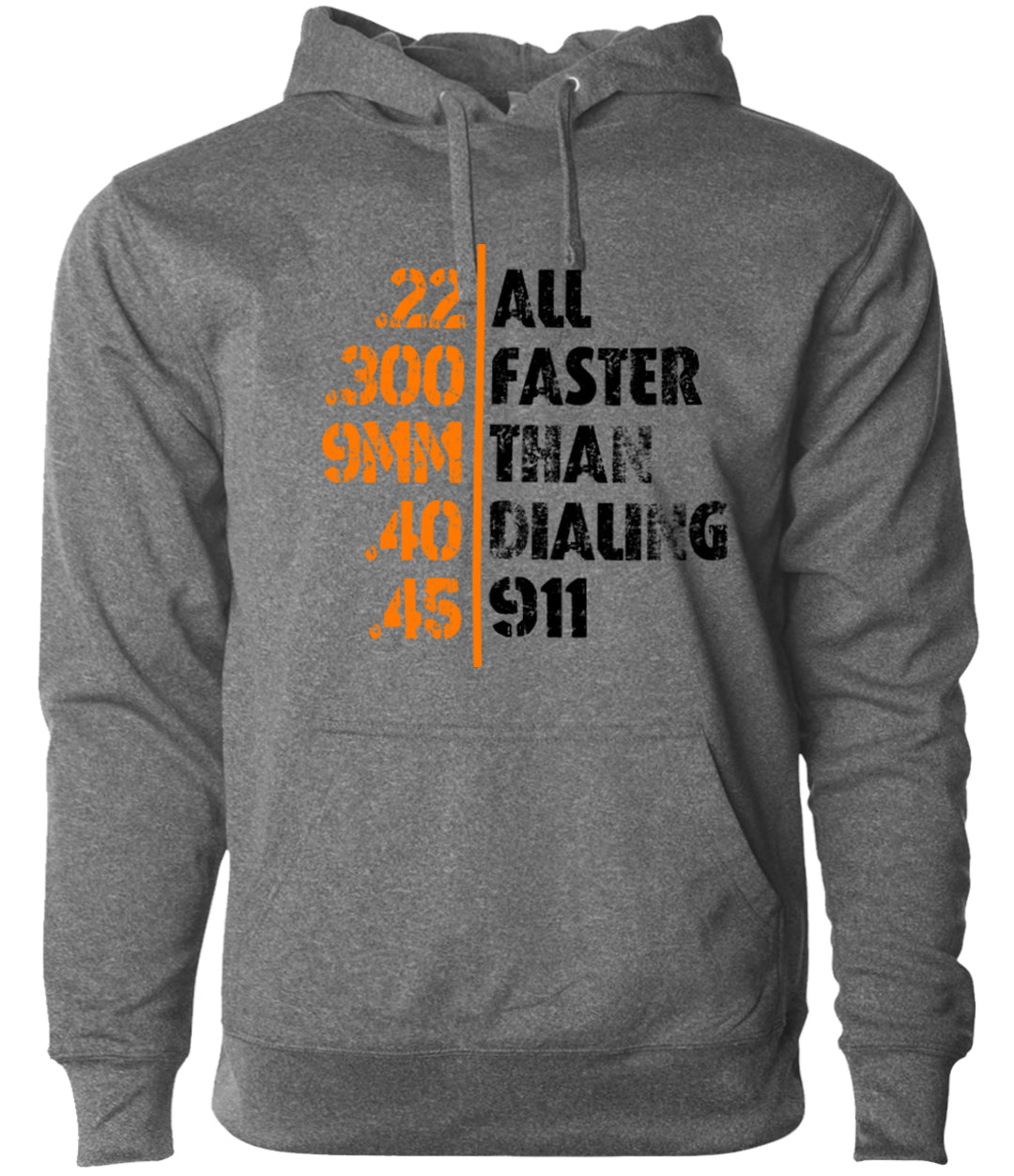 faster than 911 heather grey hoodie