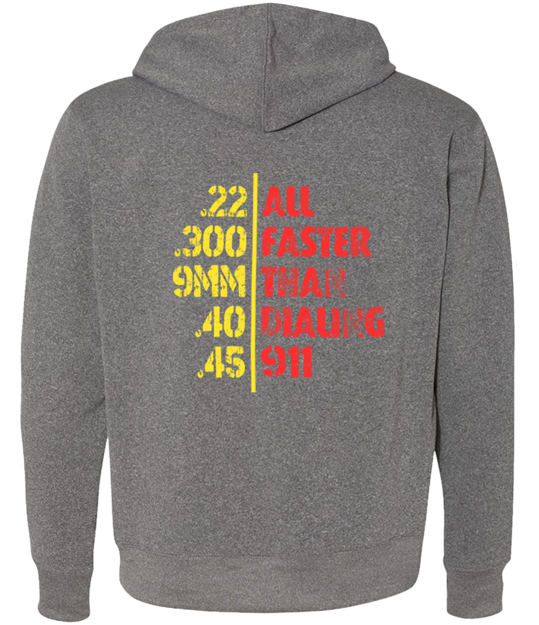 faster that 911 heather grey hoodie