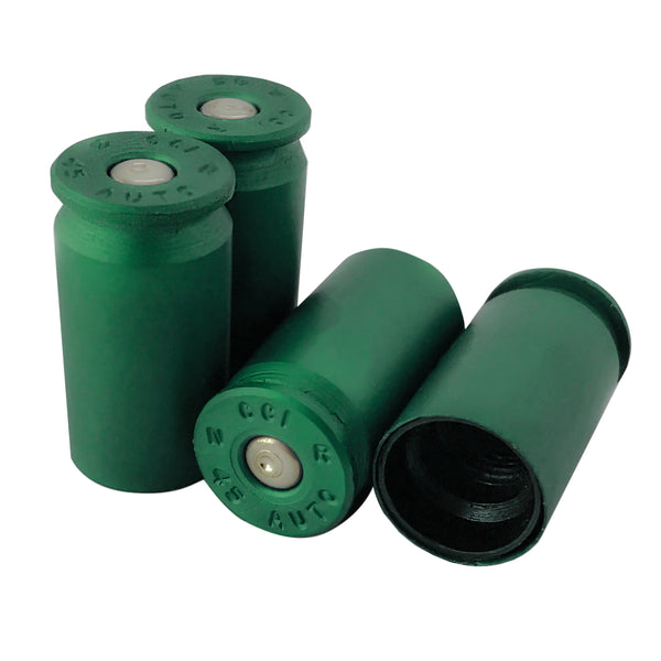 anodized green bullet valve stem caps