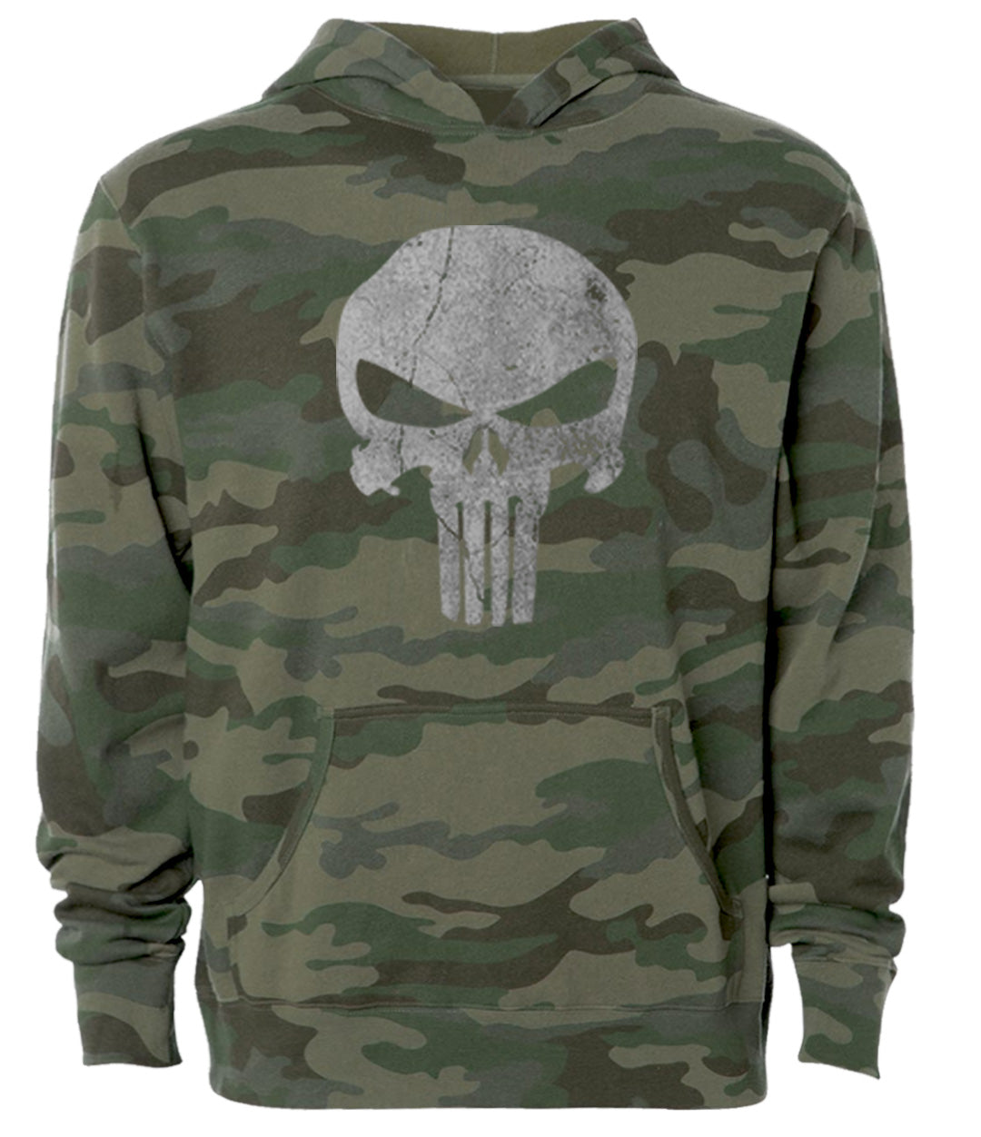 the punisher military camo tactical hoodie
