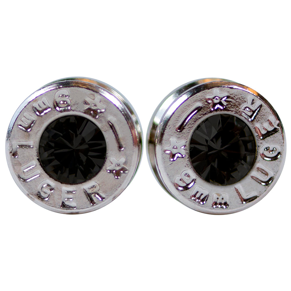 silver midnight bullet earrings