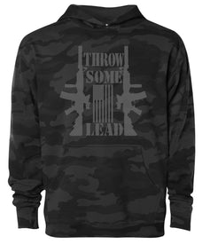 throw some lead black camo hoodie