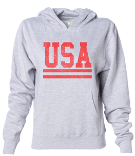 USA heather white sweatshirt