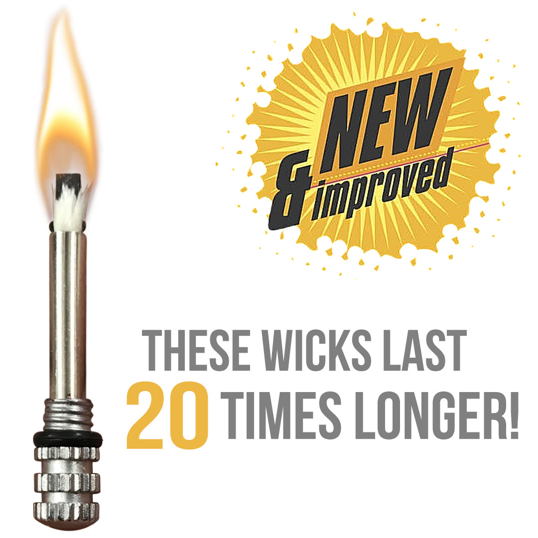 longer lasting fire starter wicks