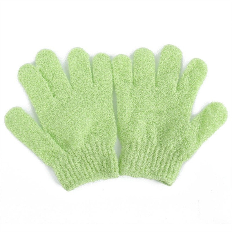 2pcs Shower Exfoliating Bath Gloves Nylon Shower Gloves Body Scrub Exfoliator for Men Women Kids