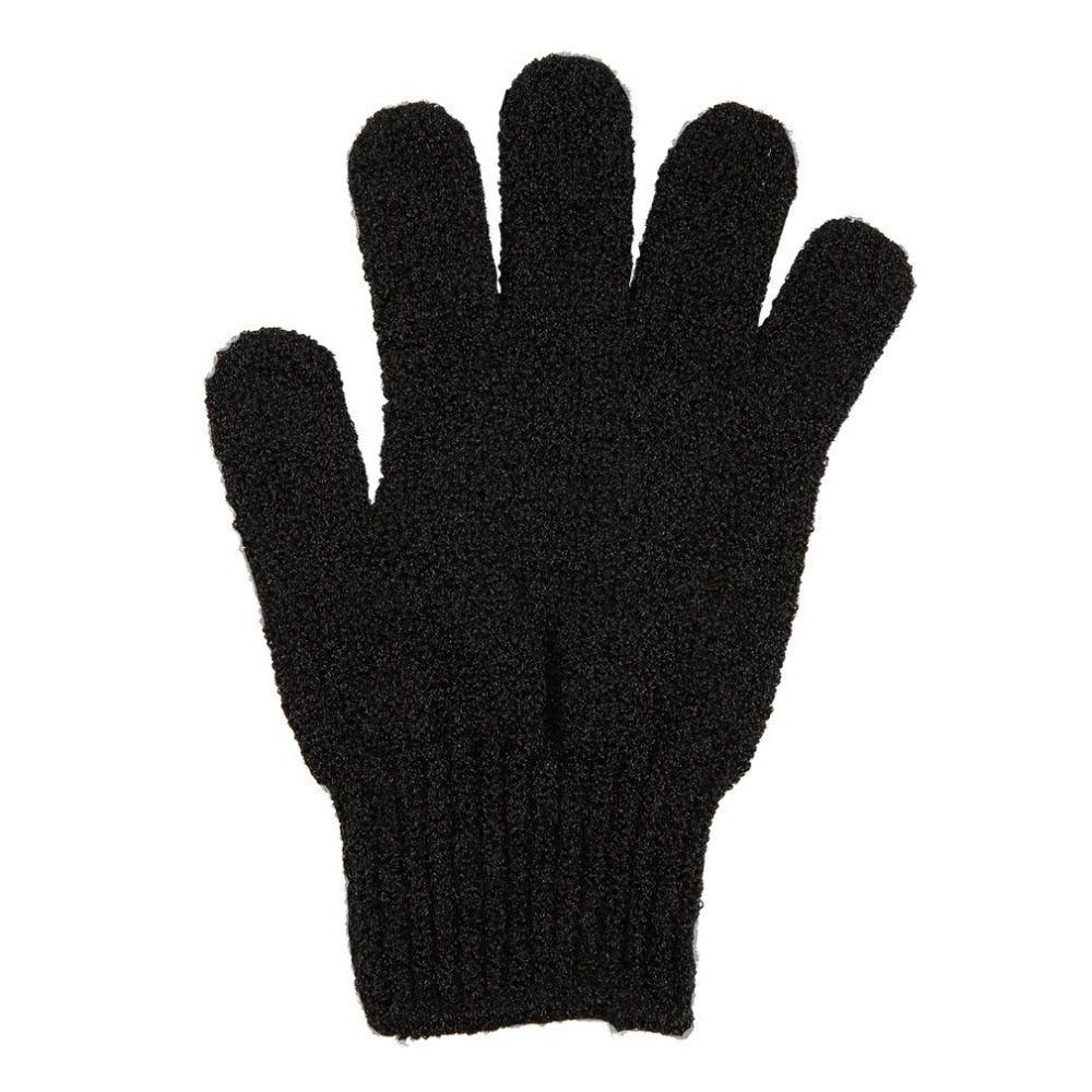 Black Exfoliating Gloves Full Body Scrub Dead Cells Soft Skin Blood Circulation Shower Bath Spa Exfoliation Accessories