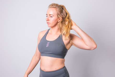 LUXE RX Sports Bra | Ash Grey