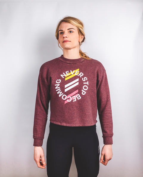 NSB Cropped Sweatshirt | Cranberry