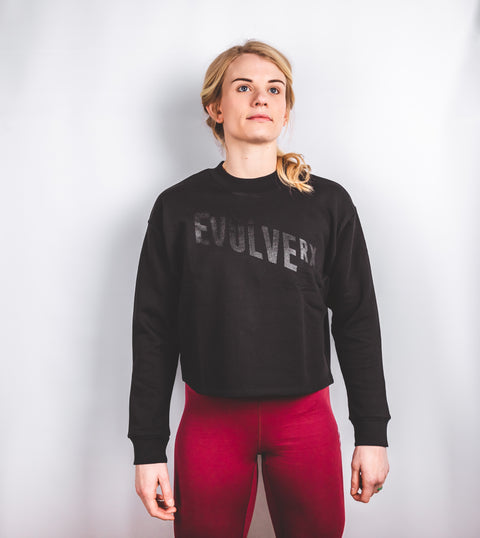 Blackout Cropped Sweatshirt