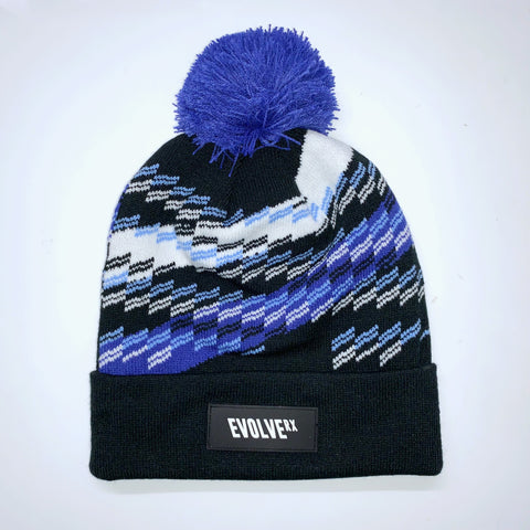 Bobble Beanie | Blue Sequence
