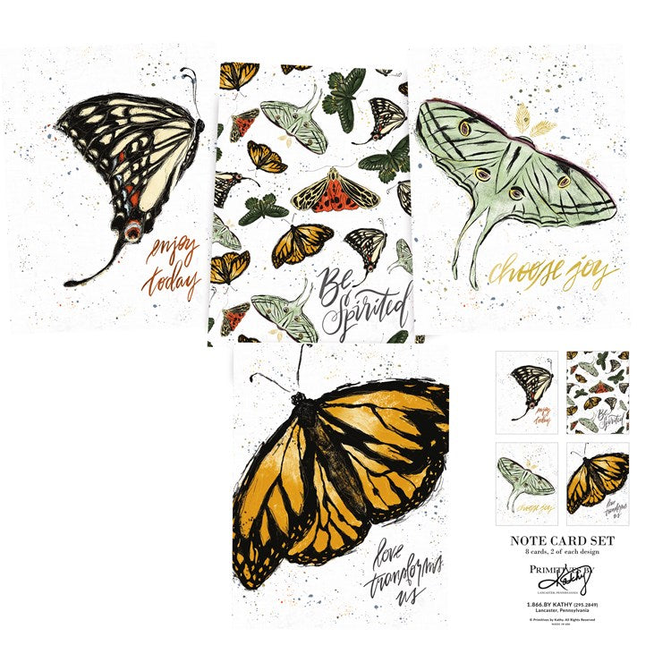 Note Card Set Butterflies #1264