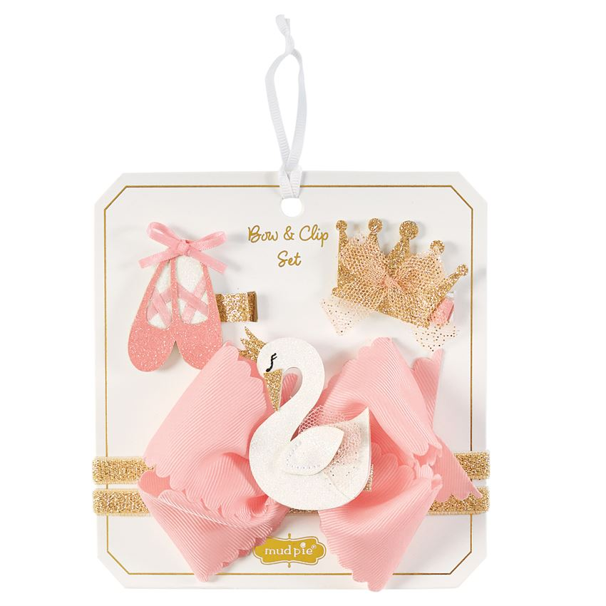 Swan Ballerina Bow Set