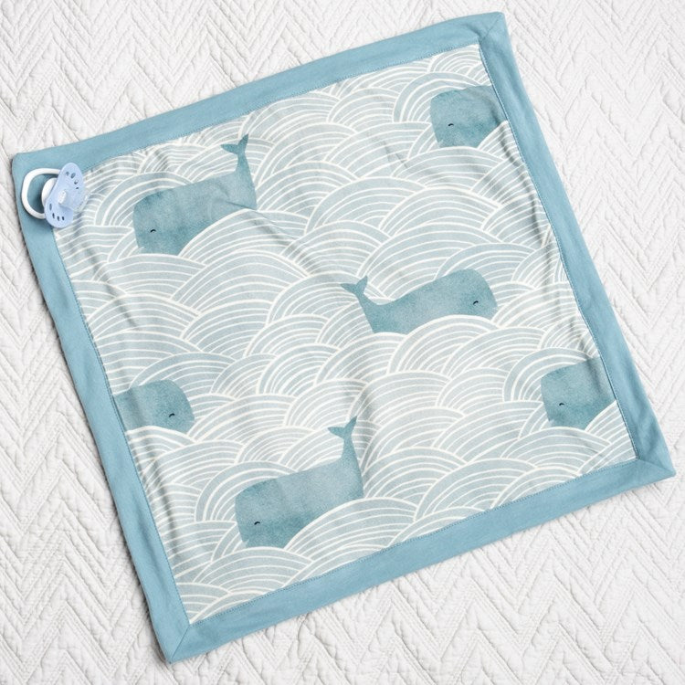 Baby Security Blanket Blue Whales #1240