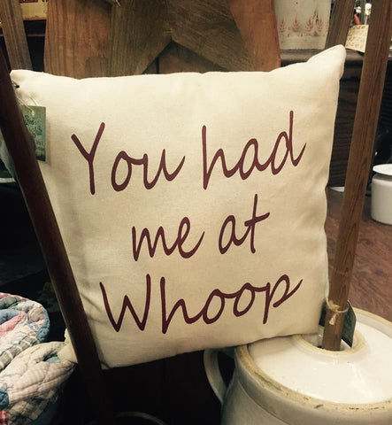 You Had Me at Whoop Pillow