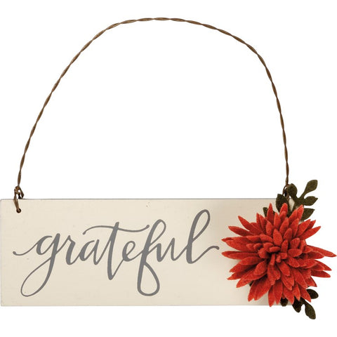 "Hanger Sign ""Grateful"" #1252"