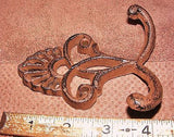Cast Iron Crown Double Coat Hook  #104