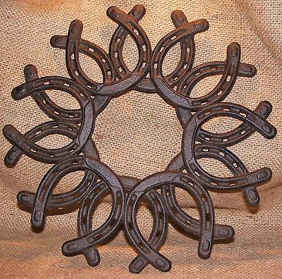 Cast Iron Horse Shoe Wreath  #308