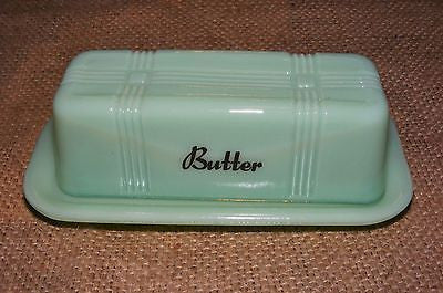 Jadeite Green Butter Dish Reproduction Depression Glass # 525J