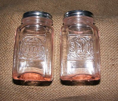 Pink Salt and Pepper Shakers #504P