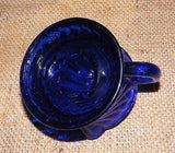Juicer Reamer Cobalt Blue Hand Held - Lemon Lime Juice - Depression Glass Style # 514C