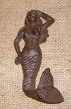 Cast Iron Mermaid Wall Hook or Hanger #214