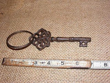 Cast Iron Skeleton Key With Ring #114D