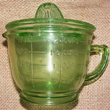Green Measuring Cup Juicer Reproduction Depression Glass # 505G