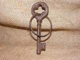 Cast Iron Skeleton Key With Ring #114B