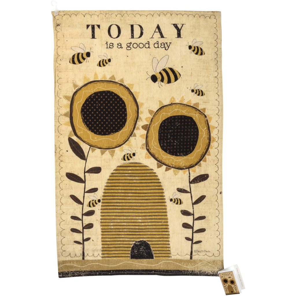 "Tea Towel ""Today is a Good Day"" #1246"