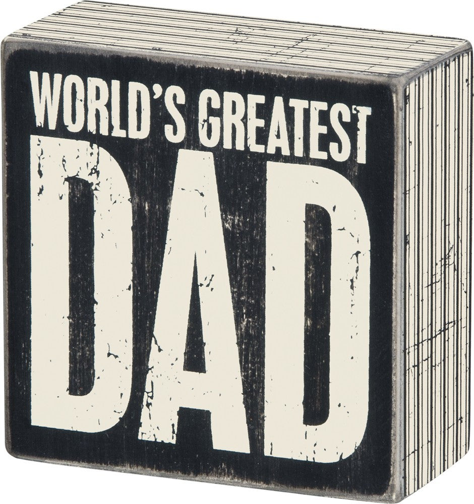 Box Sign World's Greatest Dad Father's Day Gift #752