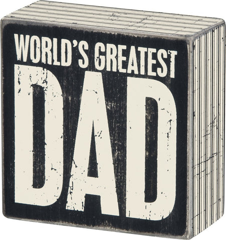 Box Sign World's Greatest Dad #752