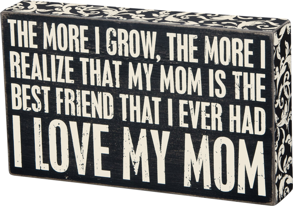 Box Sign Home Wall Decor Mother - Best Friend #888