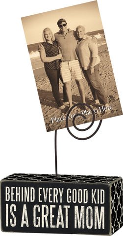 Photo Block Picture Holder Great Mom #793