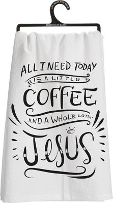 "Tea Towel ""Coffee and Jesus"""