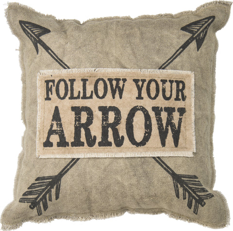 """Follow Your Arrow"" Decorative Canvas Pillow"
