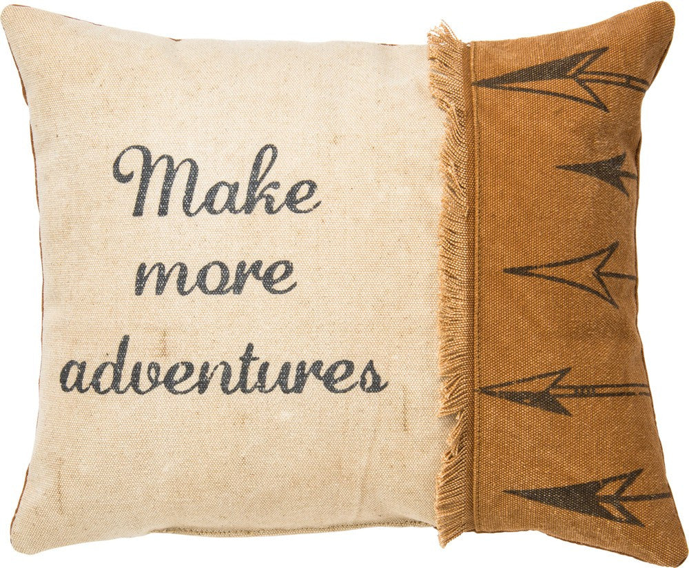 Throw Accent Pillow - Make More Adventures