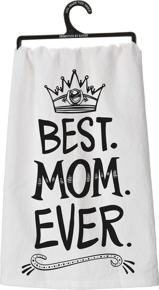 "Tea Towel ""Best Mom Ever"" Mother's Day Gift Dish Cloth"