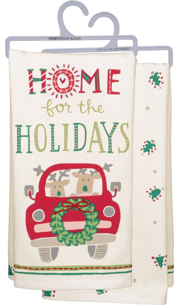 "Christmas Tea Towel ""Home For the Holidays"""