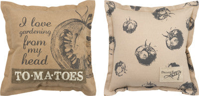 "Decorative Canvas Garden Throw Pillow ""To Ma Toes"""