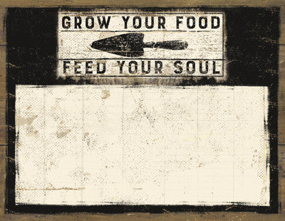 "Paper Notepad - ""Grow Your Food Feed Your Soul"" - Set of 2"