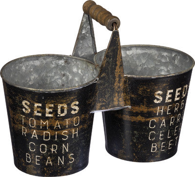 Tin Seed Vegetable Garden Caddy #781