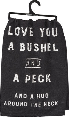 "Tea Towel ""Bushel and a Peck"""