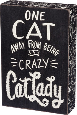Box Sign Crazy Cat Lady  #789