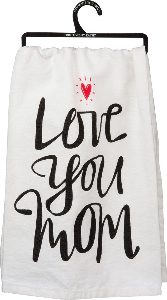 "Tea Towel ""Love You Mom"""