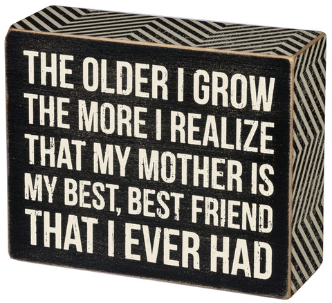 "Box Sign ""Mother Best Friend"" #857"